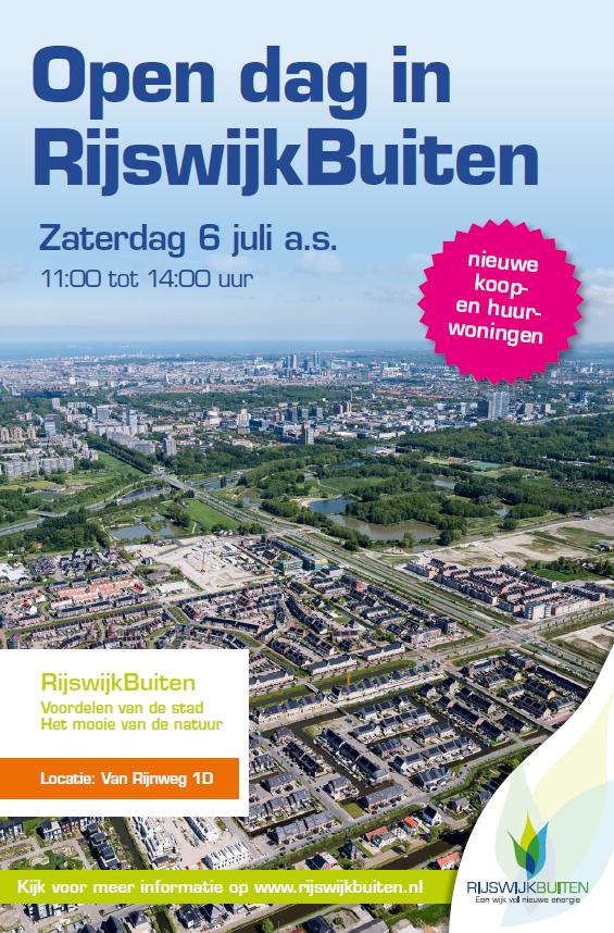 Open dag RijswijkBuiten op 6 juli a.s.