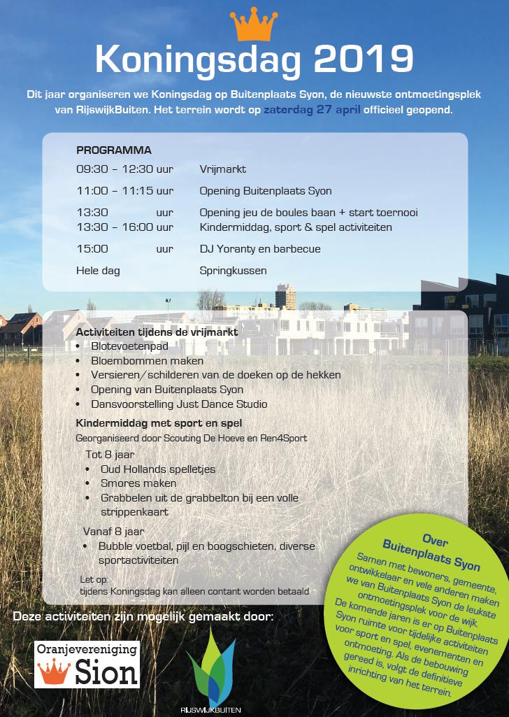 Vier Koningsdag én de opening van Buitenplaats Syon in RijswijkBuiten