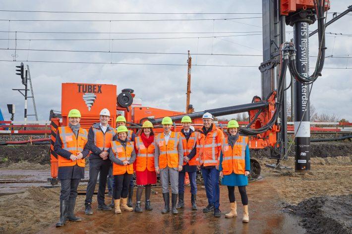 Feestelijke start bouw programma Hoogfrequent Spoorvervoer Rijswijk – Rotterdam