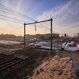 Dak spooronderdoorgang RijswijkBuiten op zijn plek