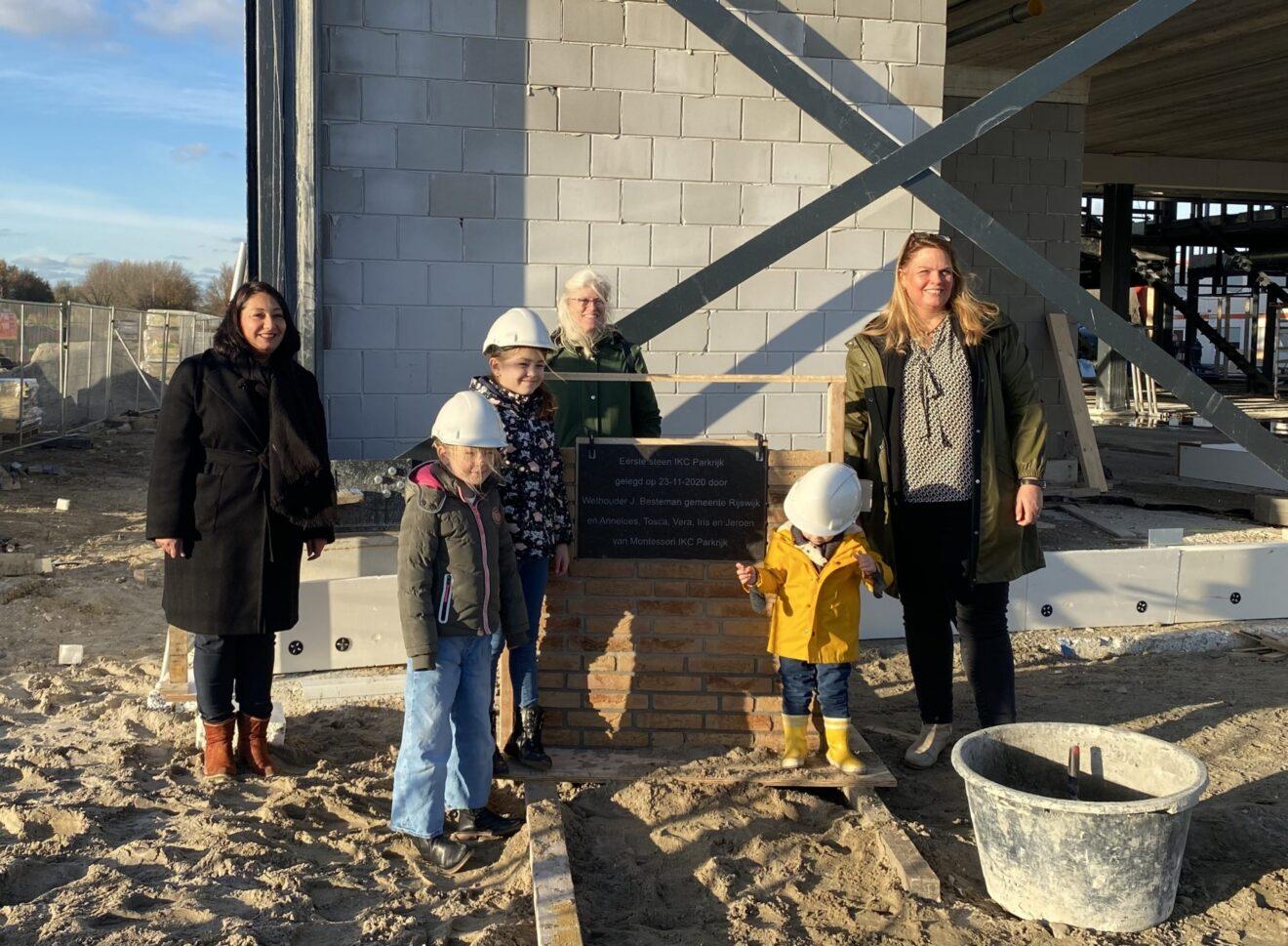 Eerste steen IKC Parkrijk 23-11-2020