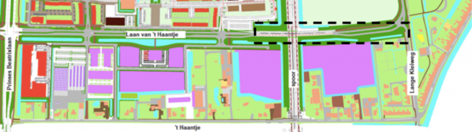 Impressie verbinding Laan van 't Haantje en Lange Kleiweg via Spooronderdoorgang RijswijkBuiten.