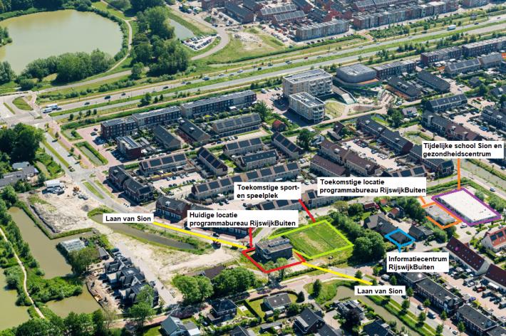 Verhuizing programmabureau RijswijkBuiten, doortrekken Laan van Sion en realisatie sport – en speelplek in Sion