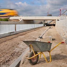 Spooronderdoorgang RijswijkBuiten in gebruik op vrijdag 30 juli 2021